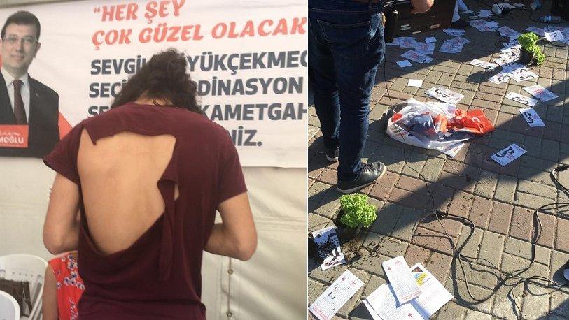 CHP'NİN SEÇİM ÇADIRINA SALDIRI!