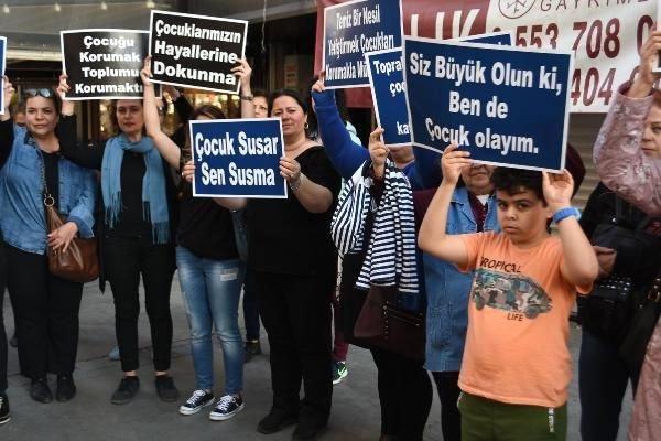 İZMİR'Lİ ANNELERDEN, ÇOCUK İSTİSMARINA