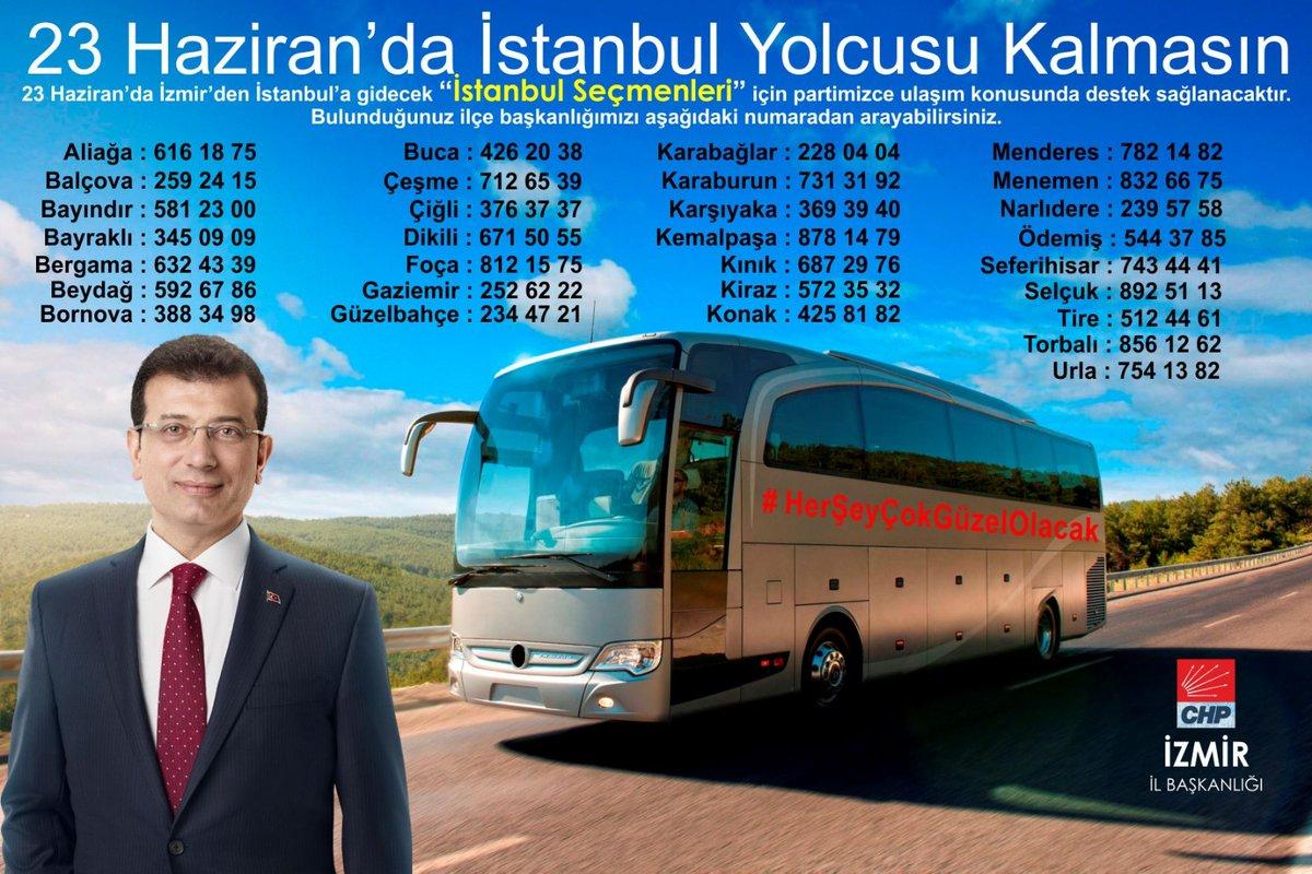 CHP İzmir'in, İstanbul otobüsleri hazır ile ilgili görsel sonucu