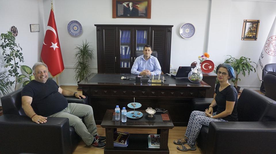 ALİAĞA BİLSEM KURUCU MÜDÜRÜNDEN, MÜDÜR BAYHAN'A ZİYARET..