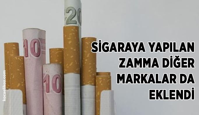 SİGARA DA, BİR ZAMLI LİSTE DAHA..