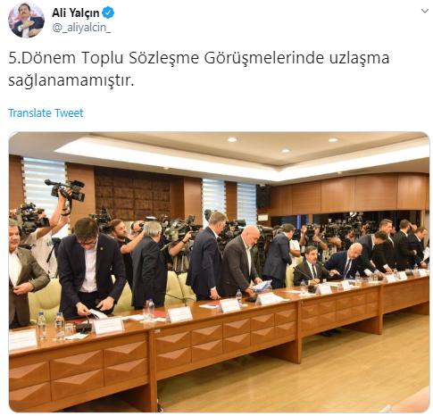 HÜKÜMET İLE MEMUR-SEN ANLAŞAMADI..