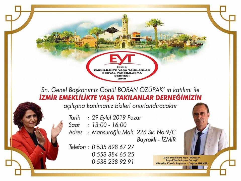 EYT DERNEĞİ YENİ ŞUBESİNİ İZMİR'DE AÇIYOR..