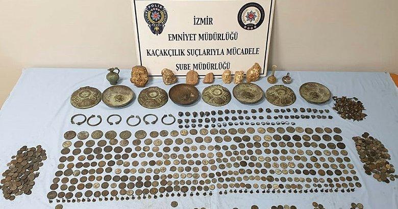 ÇİĞLİ'DE, TARİHİ ESER KAÇAKÇILARINA OPERASYON!