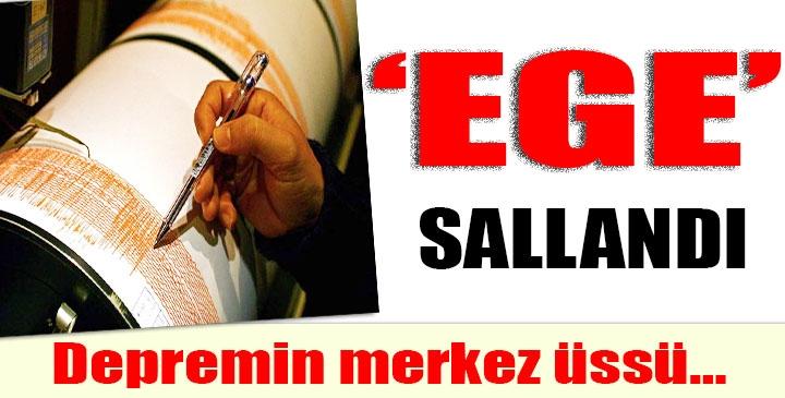 EGE DENİZİNDE 3.9 BÜYÜKLÜĞÜNDE DEPREM!