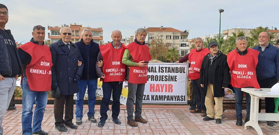 ALİAĞA EMEKLİ-SEN'DEN, KANAL İSTANBUL'A, HAYIR KAMPANYASI..