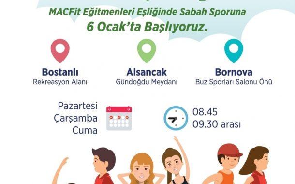 İZMİR'DE HERKES İÇİN SPOR..