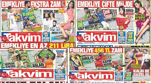 BİR YILDA, 357 KEZ, EMEKLİYE ZAM MANŞETİ ATTI, ALAY KONUSU OLDU..