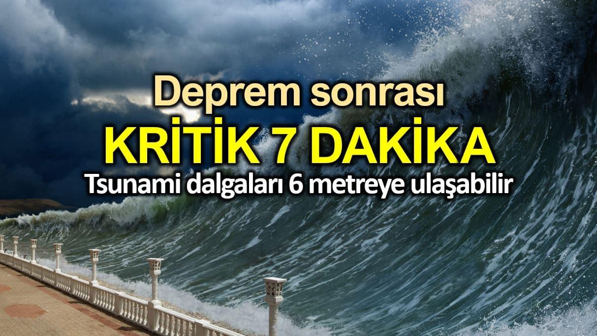 İSTANBUL DEPREMİNDE TSUNAMİ'DEN ETKİLENECEK 17 İLÇE AÇIKLANDI..