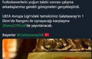 G.RANGERS-G.SARAY MAÇI, TEVE2'DEN CANLI YAYINLANACAK..