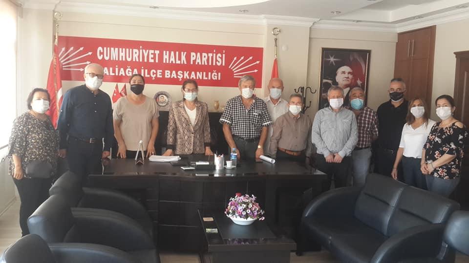 ALİAĞA EMEKLİ-SEN'DEN CHP İLÇE BAŞKANLIĞINA DESTEK TALEBİ ZİYARETİ..