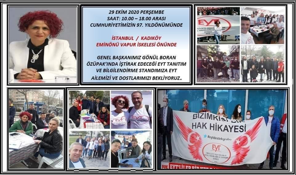 EYT'DEN, EMİNÖNÜ VAPUR İSKELESİNDE STAND ÇALIŞMASI..