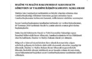 BEKLENEN AÇIKLAMA 27 SAAT SONRA GELDİ, ALBAYRAK'IN İSTİFASI KABUL EDİLDİ..