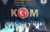 ALİAĞA KOM'DAN, KAÇAK ALKOL SATIŞINA GEÇİT YOK!..