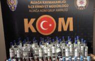 ALİAĞA EMNİYETİNDEN KAÇAK ALKOL DENETİMLERİNE DEVAM..