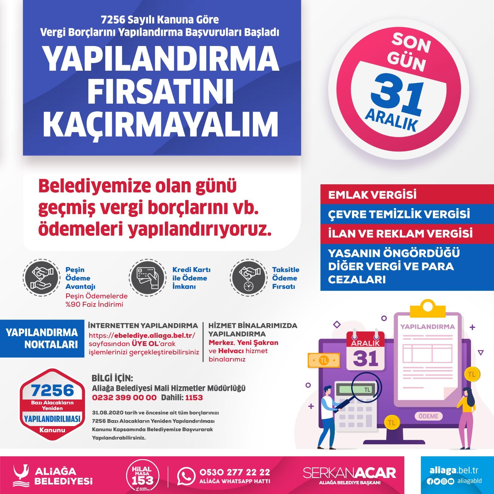 Aliağa Belediyesi'nden Vergi Yapılandırma Çağrısı..