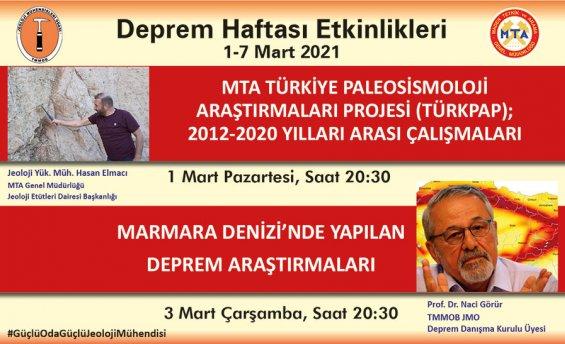 JEOLOJİ MÜHENDİSLERİ ODASINDAN, DEPREM HAFTASINDA ÇAĞRI..