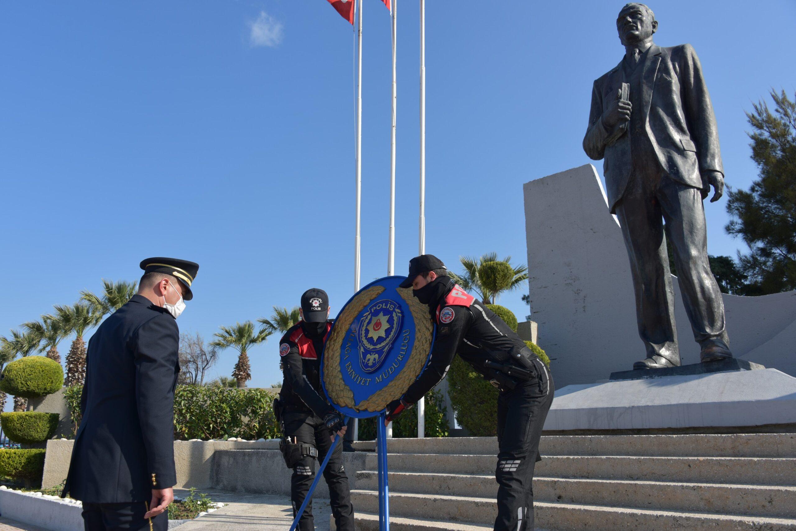 Türk Polis Teşkilatı'nın 176. Yıl Dönümü Aliağa'da Törenle Kutlandı..
