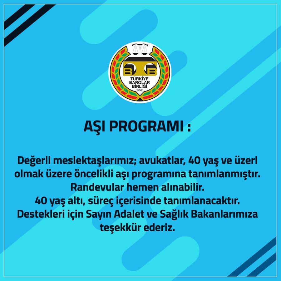 40 YAŞ ÜSTÜ AVUKATLARA AŞI ÖNCELİĞİ VERİLDİ..