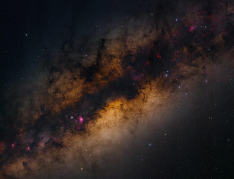 Samanyolu'nu Ultra Yüksek Çözünürlükte Gösteren 2,2 Gigapiksellik Fotoğraf..