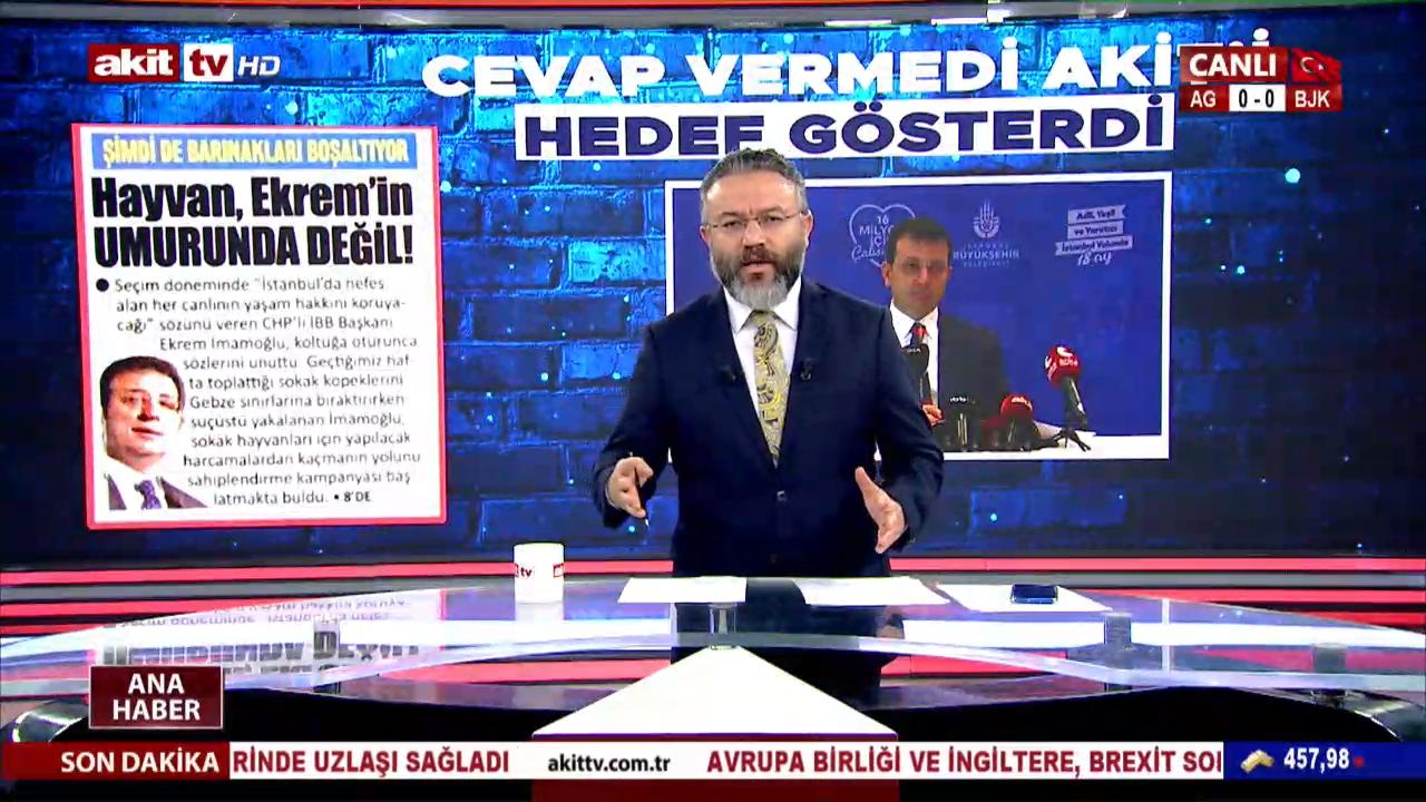 İMAMOĞLU'NDAN, KENDİSİNE HAKARET EDEN VE TAZMİNAT ÖDEMEYEN AKİT TV'YE HACİZ İŞLEMİ..