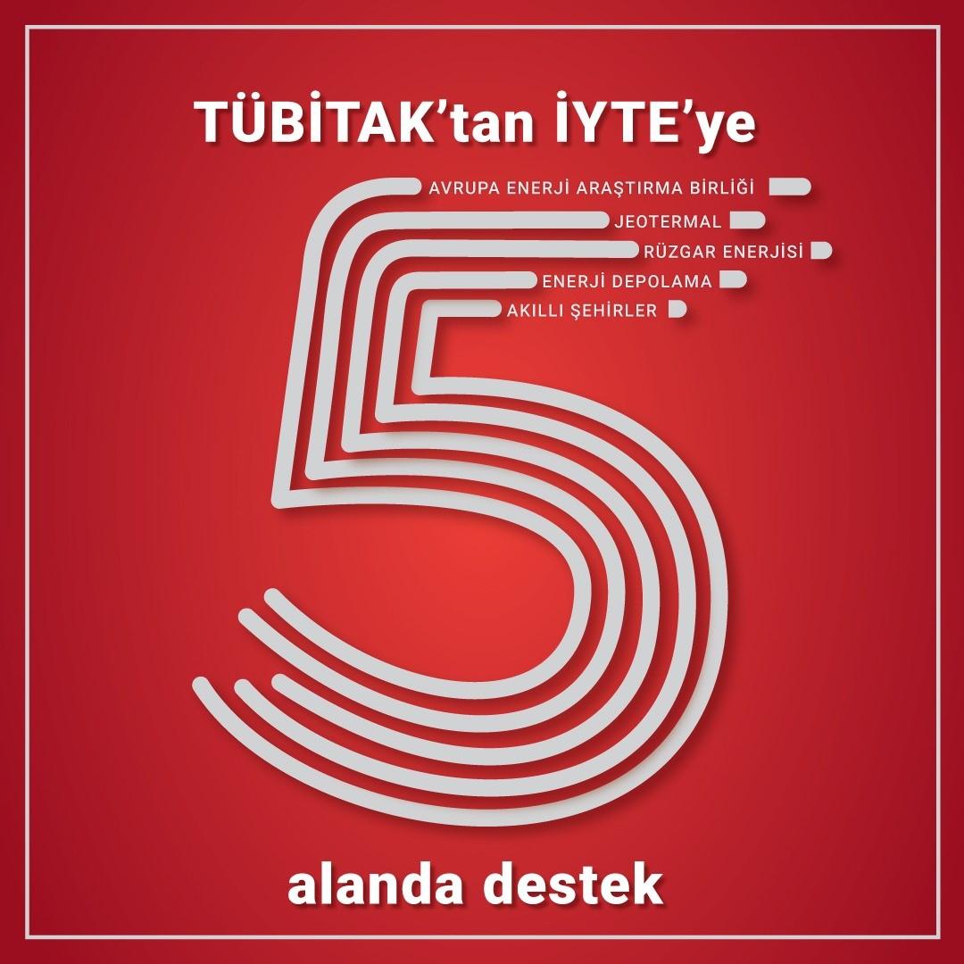 TÜBİTAK'tan İYTE'ye  5 Ayrı Kategoride Destek..