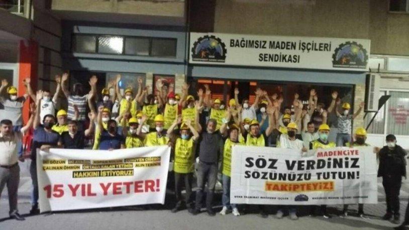 VERİLEN SÖZLER TUTULMADI, SOMA'LI MADENCİLER ANKARA'YA GİTTİ..