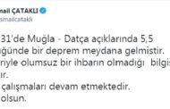 İÇİŞLERİ BAKANLIĞINDAN DATÇA'DAKİ DEPREMLE İLGİLİ AÇIKLAMA...